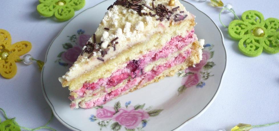 Tort bezowy z malinami (autor: czekoladkam)