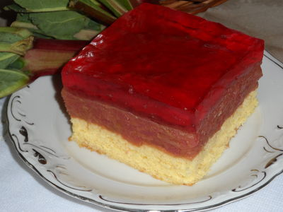 Ciasto rabarbarowo