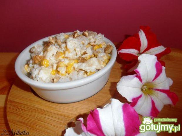 Przepis  sałatka ryżowa na słodko 3 przepis