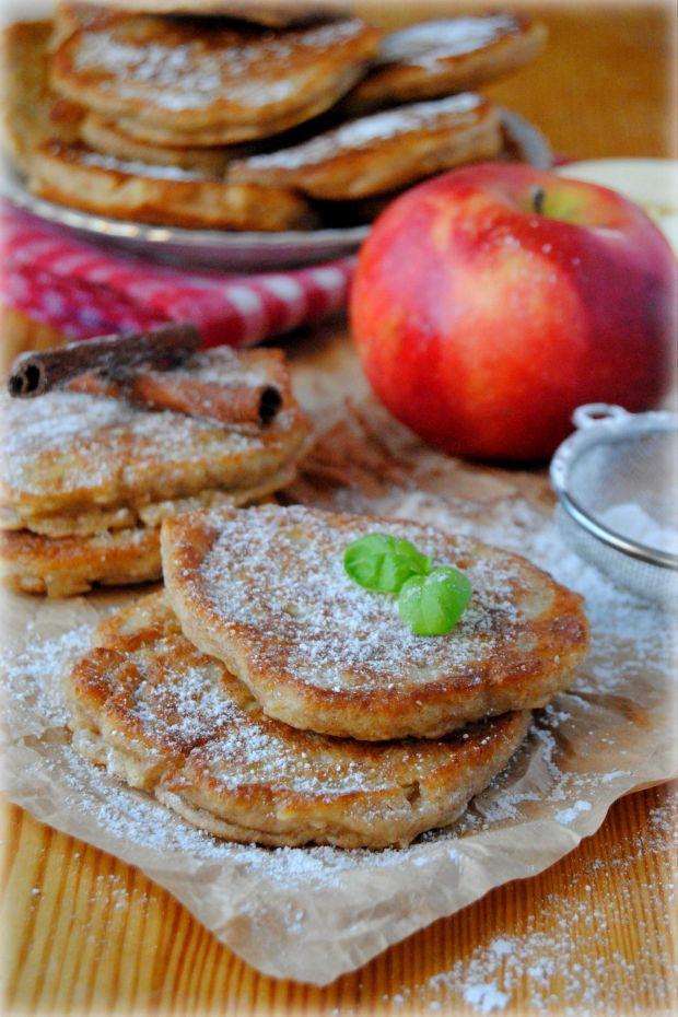 Przepis  orkiszowo-razowe placki z jabłkami przepis