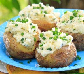 Ziemniaki z białym serem  prosty przepis i składniki