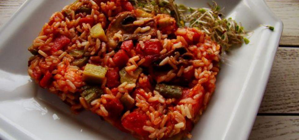 Zapiekanka ryżowa z pieczarkami (autor: iwa643)