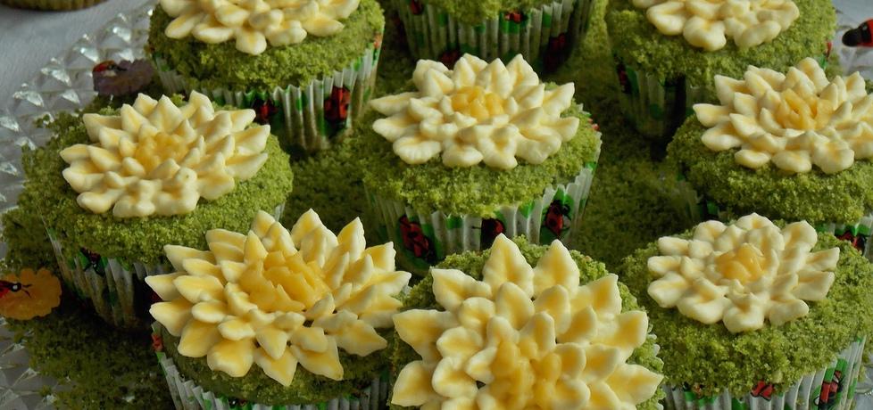 Muffinki kwiatki na łące (autor: mniam)