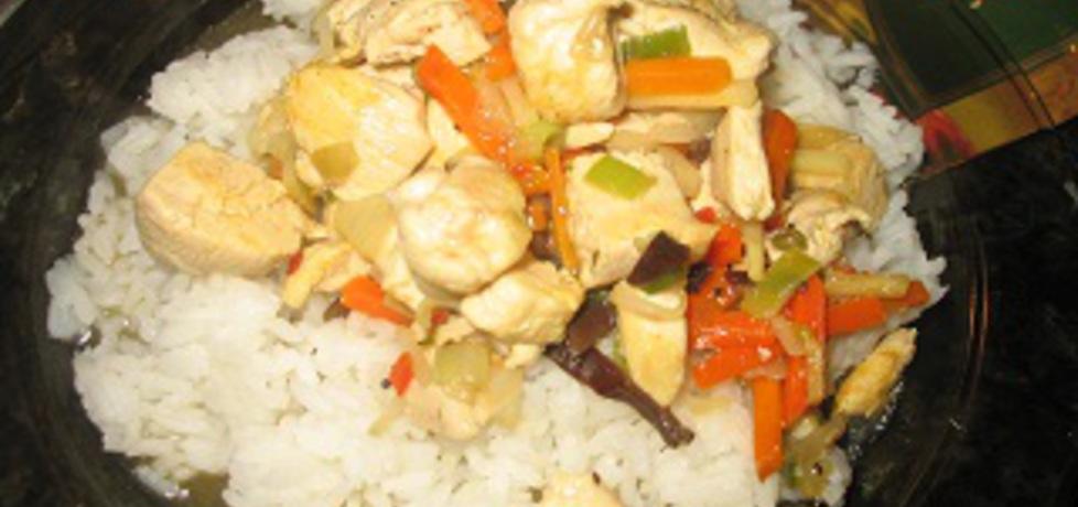 Kurczak po chińsku z ryżem i warzywami (autor: just43 ...
