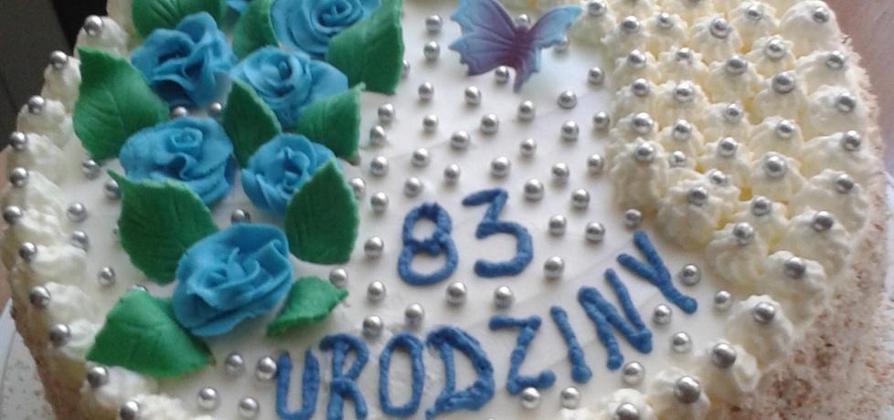 Tort śmietankowo  czekoladowy (autor: bozena