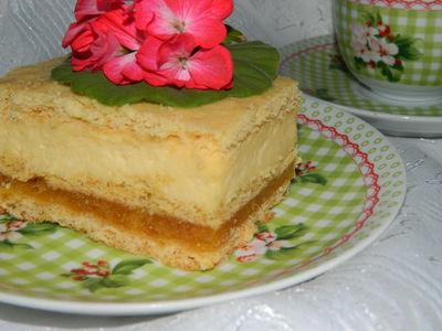 Ciasto z jabłkami i masą serową