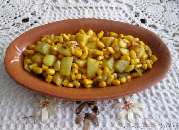 Ziemniaki na słodko z kukurydzą