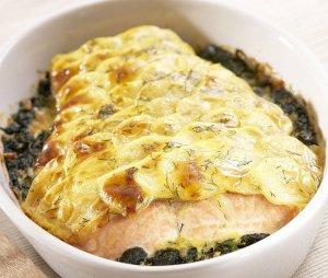 Zapiekanka z łososiem  prosty przepis i składniki