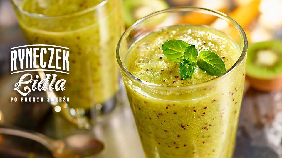 Przepis na smoothie z kiwi i miętą