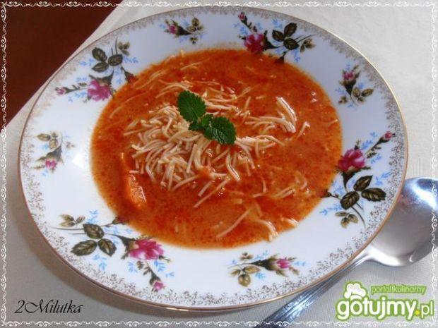 Przepis  zupa mocno pomidorowa przepis