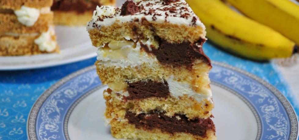 Tort bananowo-czekoladowy (autor: mienta)