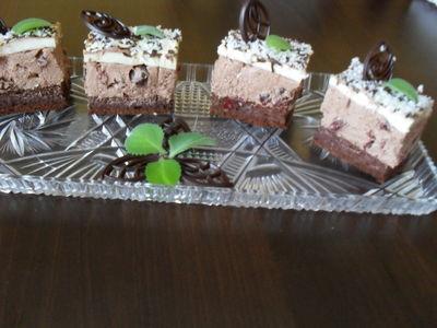 Ciasto czekoladowe z sokiem z wiśni