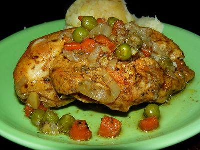 Kurczak z warzywami w worku