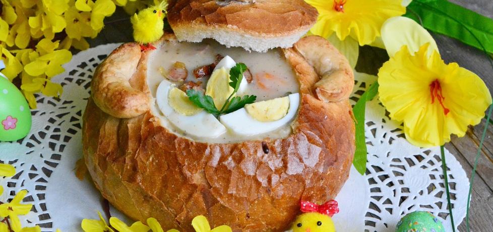 Tradycyjny wielkanocny żurek w chlebie (autor: linka2107 ...