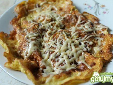 Przepis  omlet ze szczypiorkiem przepis