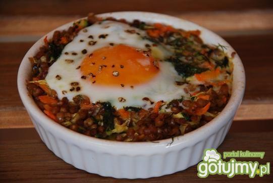 Przepis  sadzone jajko z kaszą gryczaną przepis