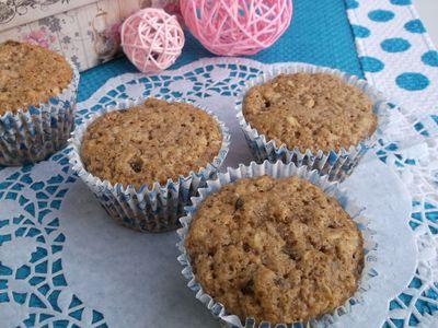 Muffinki owsiane z rodzynkami