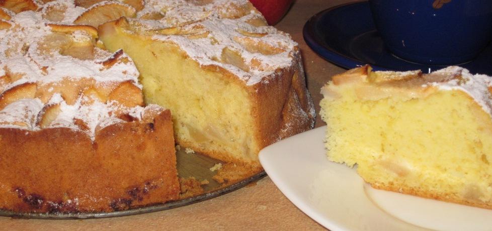 W środku i na wierzchu, czyli ucierane ciasto z jabłkami :) (autor ...