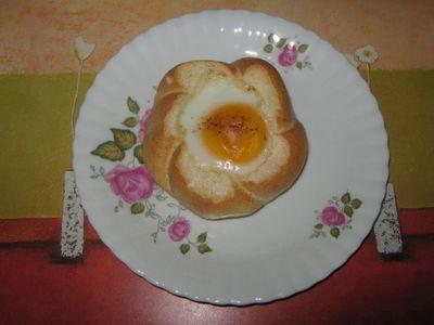 Bułeczki nadziewane grzybami i jajkiem.
