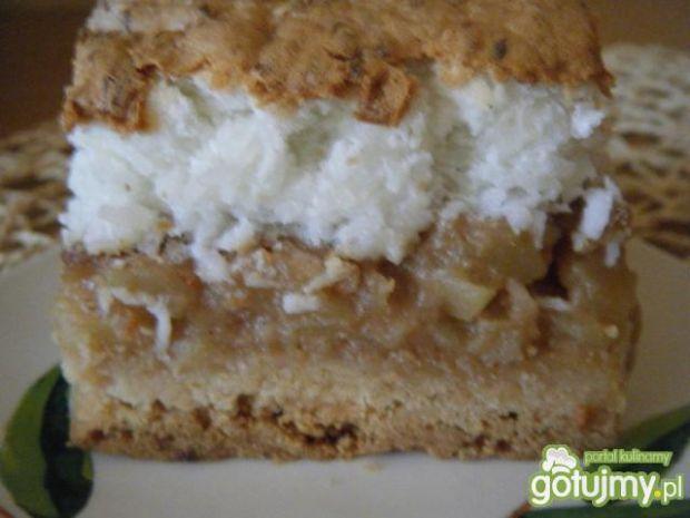 Przepis  ciasto z jabłkami i wiórkami kokosowymi przepis