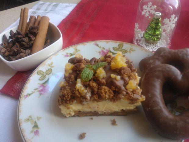 Przepis  sernik gotowany z piernikami przepis