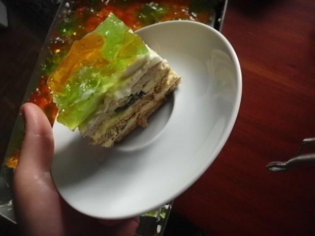 Przepis  ciasto z kiwi bez pieczenia przepis