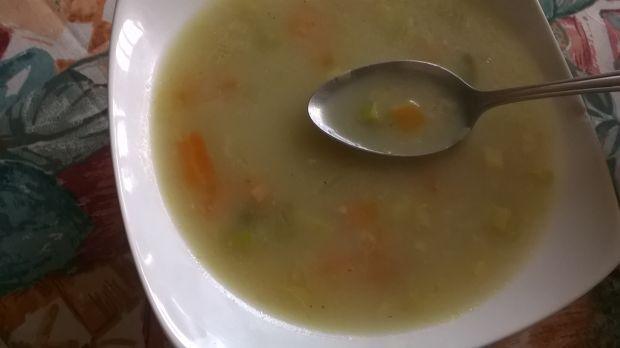 Przepis  zupa porowa z kaszą jęczmienną przepis