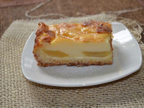 Jabłecznik z kremem budyniowym (ciasta i desery)