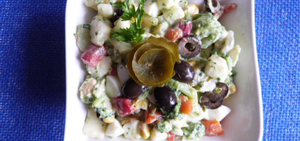 Sałatka z brokuła z oliwkami i papryką (autor: ikrakowianka ...