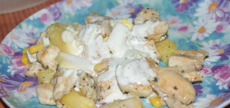 Sałatka z kurczakiem i ananasem (autor: magdalea ...
