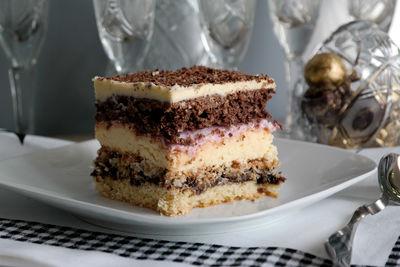 Ciasto z powidłami i kremem