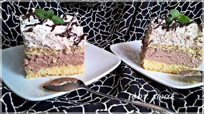 Ciasto kostka czekoladowa z grześkami