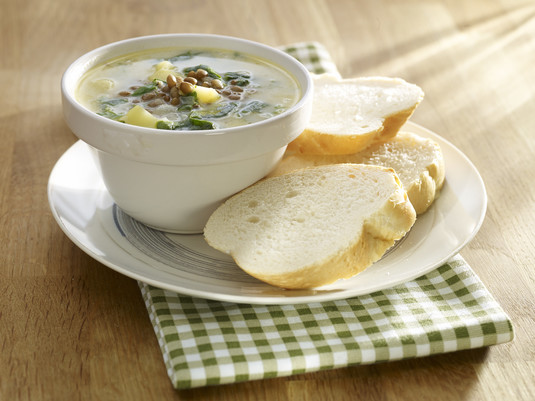 Zupa z soczewicą i szpinakiem