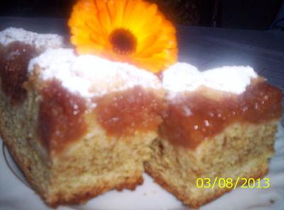 Ciasto z kawą inką i jabłkami