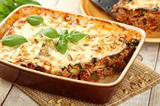 Lasagne z indykiem i warzywami