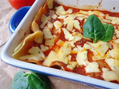 Lasagne z grillowanymi warzywami