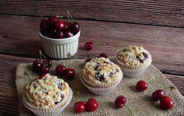 Przepis  cytrynowe muffiny z czereśniami przepis