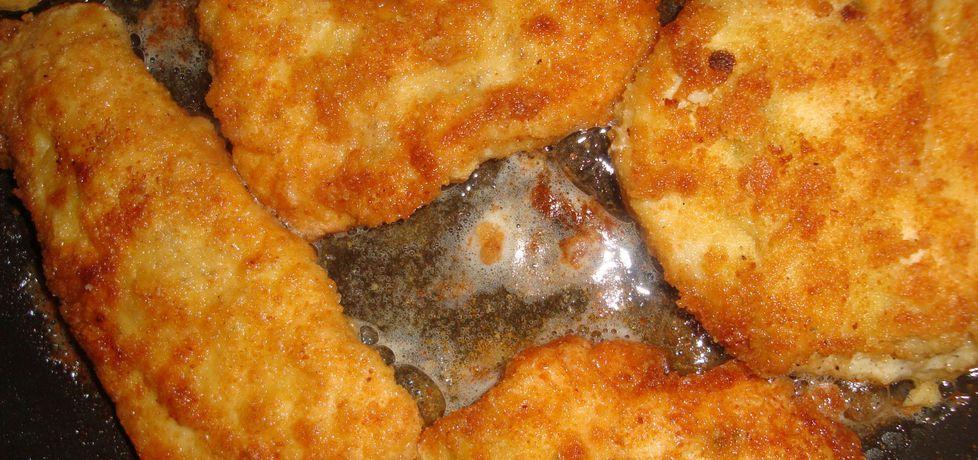 Filety z kurczaka w panierce z bułki tartej i mąki (autor: halinah ...
