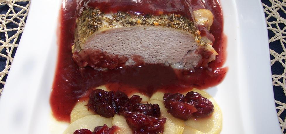 Jak wzbogacić mięso, czyli pieczony schab podany z sosem ...