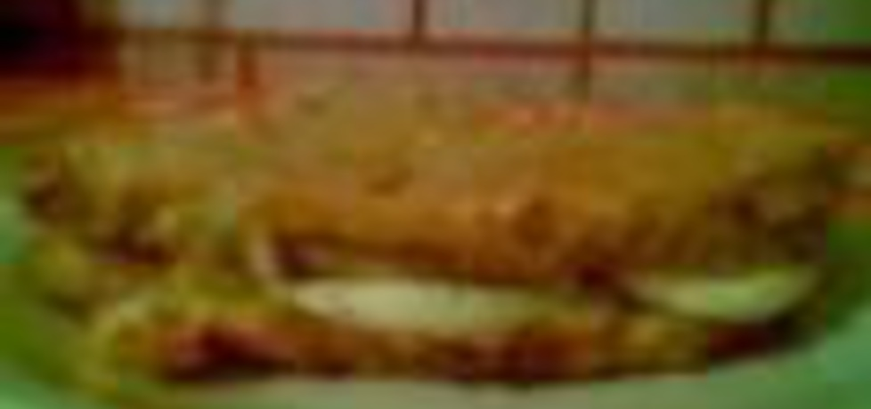 Chleb w cieście naleśnikowym z serem i jajkiem (autor ...