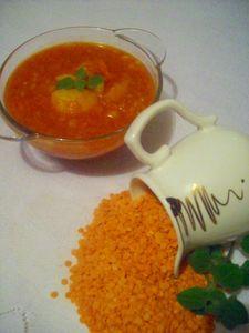 Ostra zupa z soczewicą