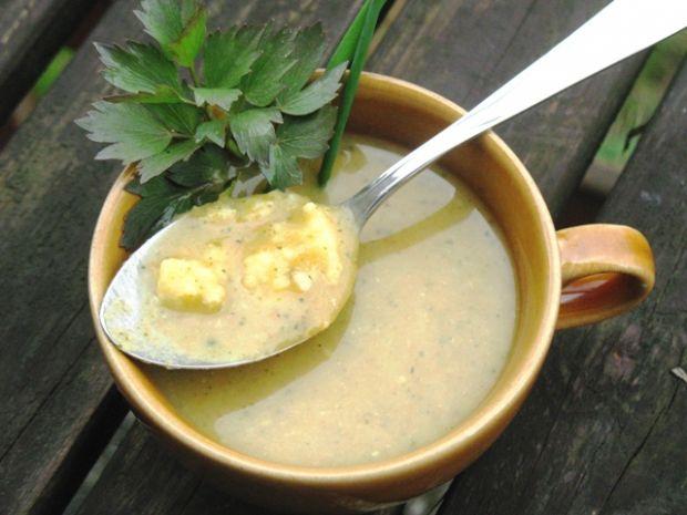 Przepis  zupa krem z warzyw z kaszą jaglaną przepis