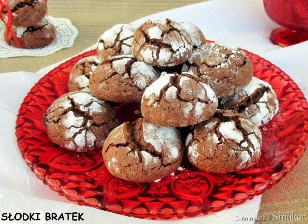 Crinkles czyli popękane ciasteczka czekoladowe