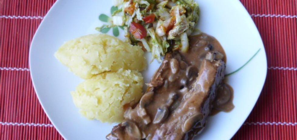Żeberka wieprzowe w pieczarkowym sosie (autor: renatazet ...