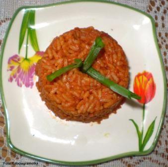 Przepis  ryż pikantny pomidorowy : przepis