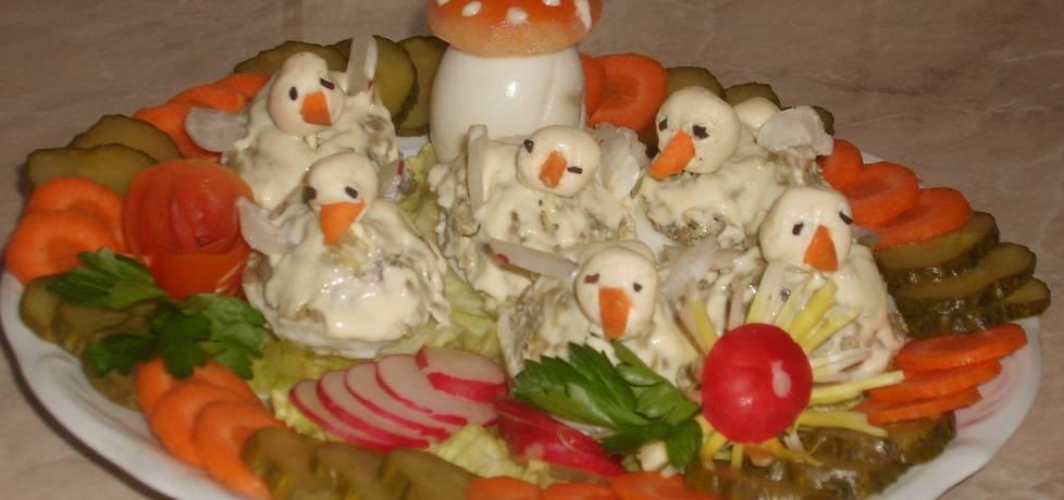 Jajka faszerowane pieczarkami (autor: beatkaa153 ...