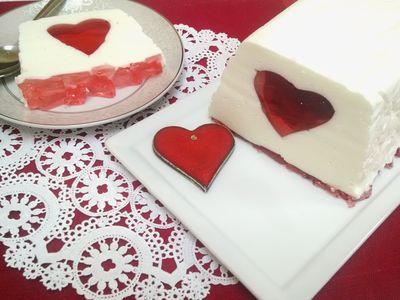 Walentynkowy deser jogurtowy z galaretkami ...