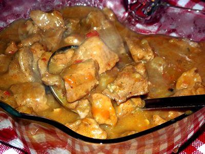 Gulasz wieprzowy z szynki w sosie własnym
