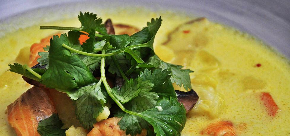 Rozgrzewająca zupa rybna z mleczkiem kokosowym (autor: azgotuj ...