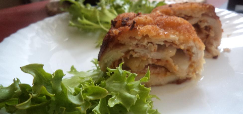 Roladki z fileta wypenione mozzarellą i presunto fatiado